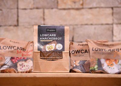 Leckere Lowcarb-Produkte wie Knäckebrot